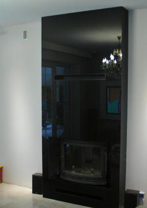 Kominek nowoczesny obudowa ze szkła